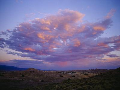 Storm Clouds Gather above a New Mexican Town-Raul Touzon-Photographic Print
