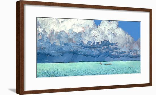 Storm Clouds Gather over Water as Shallow-Water Anglers Fish for Bonefish and Tarpon-Mike Rivken-Framed Photographic Print