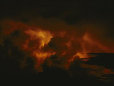 Storm Clouds over Lake Tanganyika--Photographic Print