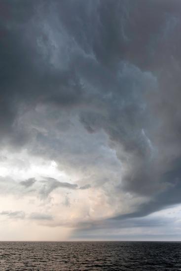 Storm Clouds over the Atlantic Ocean, Massachusetts-Susan Degginger-Photographic Print