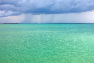 Storm Clouds over the Turquoise Sea- qiiip-Photographic Print