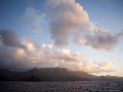 Storm Clouds Rolling in over Anaho Bay, French Polynesia-Tim Laman-Photographic Print