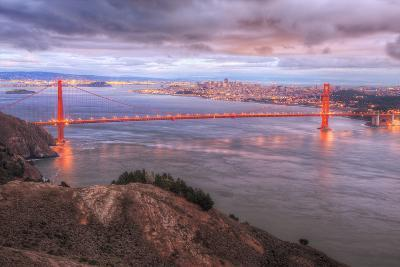 Storm Coming In Over Golden Gate Bridge-Vincent James-Photographic Print