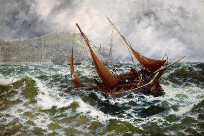 Storm Driven Off Scarborough-Thomas Rose Miles-Giclee Print