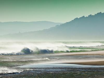 Storm Force Levante Winds Blowing Tops of Waves, Estrecho Natural Park, Los Lanses Beach, Spain-Giles Bracher-Photographic Print