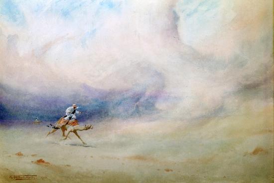 Storm in the Desert, 1901-Robert Talbot Kelly-Giclee Print