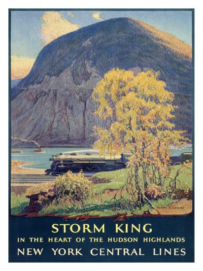 Storm King, New York Central Lines-Walter L^ Greene-Giclee Print