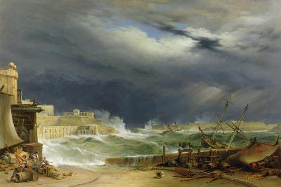Storm, Malta, 1850-John or Giovanni Schranz-Giclee Print