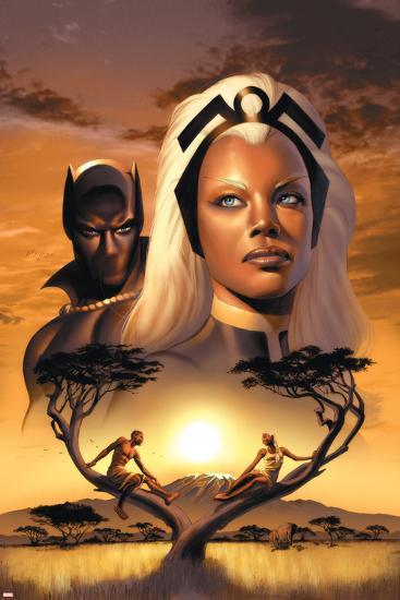 Storm No.1 Cover: Storm and Black Panther-David Yardin-Poster