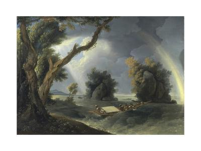 Storm on the Ganges, with Mrs Hastings Near the Colgon Rocks, C.1790-William Hodges-Giclee Print