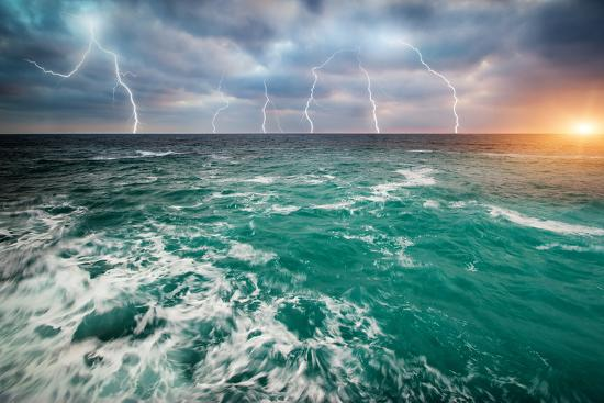 Storm on the Sea-Kashak-Photographic Print