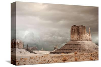 Storm over Monument Valley AZ--Stretched Canvas Print