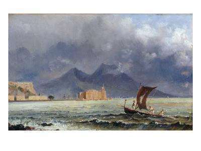 Storm Passing over Vesuvius, c.1840-50-Jacob George Strutt-Giclee Print