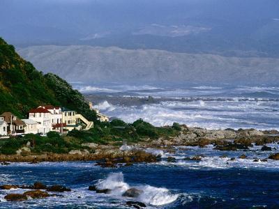 Storm Waves Lash Coast at Island Bay, Wellington, New Zealand-Paul Kennedy-Photographic Print