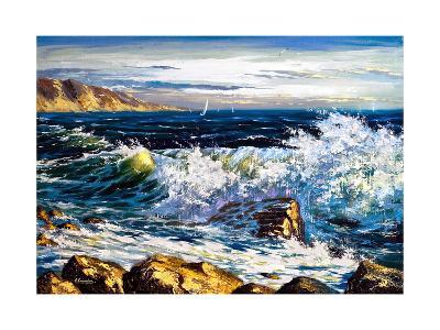 Storm Waves On Seacoast-balaikin2009-Art Print