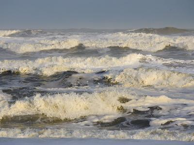 Storm Waves Pound the Shore-Skip Brown-Photographic Print