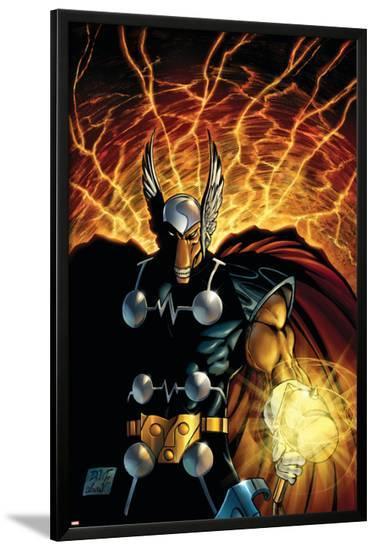 Stormbreaker: The Saga Of Beta Ray Bill No.1 Cover: Beta-Ray Bill-Andrea Di Vito-Lamina Framed Poster
