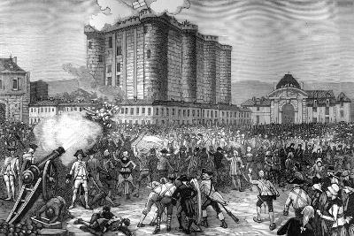 Storming of the Bastille, Paris, 14th July 1789 (1882-188)--Giclee Print