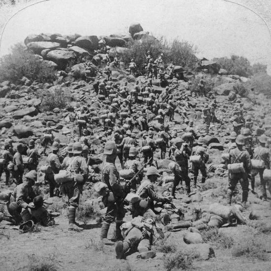 Storming of the Boer Kopje by the Suffolks at Colesberg, South Africa, Boer War, 1900-Underwood & Underwood-Photographic Print