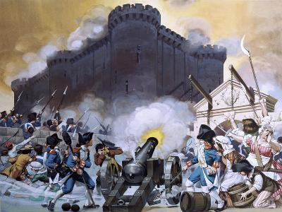Storming the Bastille-Angus Mcbride-Giclee Print