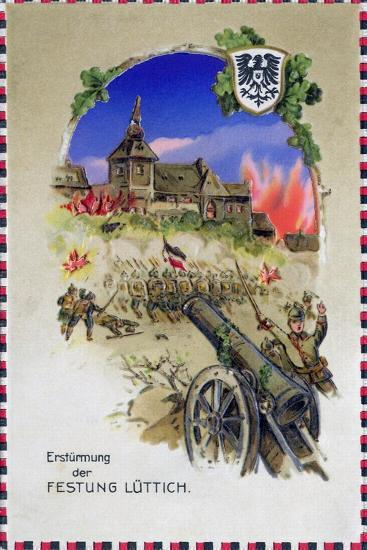 """""""Storming the Fortress of Liege"""", 1914--Giclee Print"""