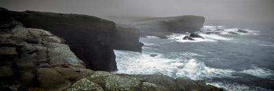 Storms Raging over Yesnaby Coastline, Orkney Islands, Scotland--Photographic Print