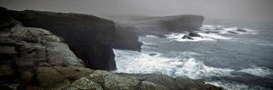 Storms Raging over Yesnaby Coastline, Orkney Islands, Scotland