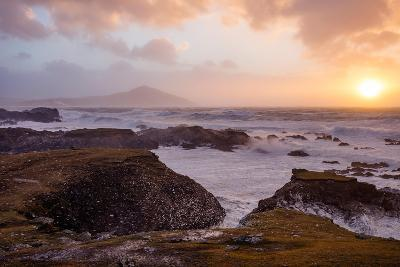 Stormy Evening on the Coast of Achill Island, County Mayo, Ireland-Gareth McCormack-Photographic Print