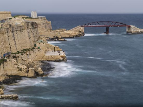 Stormy morning in Grand Harbour in Valletta on Malta-enricocacciafotografie-Photographic Print