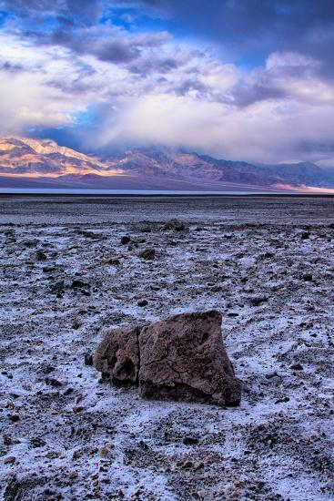 Stormy Scene at Devil's Golfcourse Death Valley National Park, California-Vincent James-Photographic Print