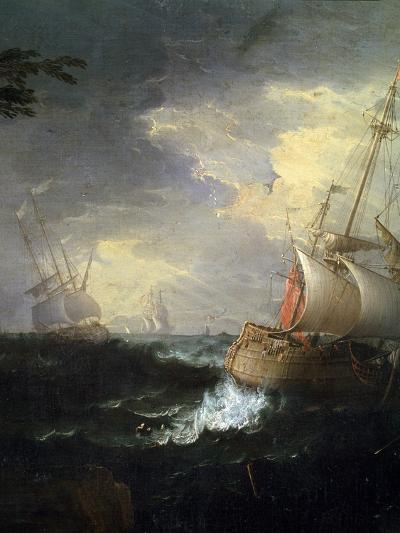 Stormy Sea, C1700-1750-Leonardo Coccorante-Giclee Print