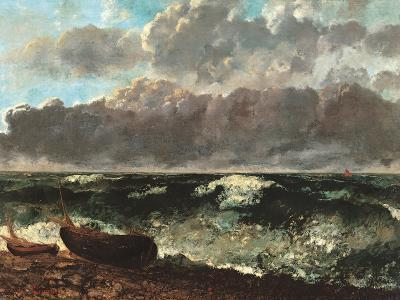 Stormy Sea, (The Wave)-Gustave Courbet-Art Print