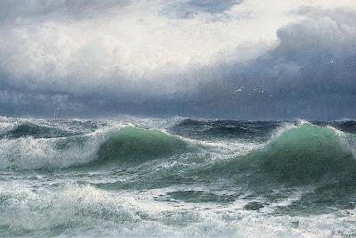 Stormy Sea with Translucent Breakers, 1894-David James-Giclee Print