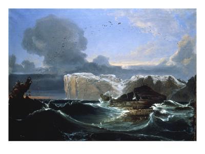 Stormy Seas by the Cliffs, 1845-Peder Balke-Giclee Print