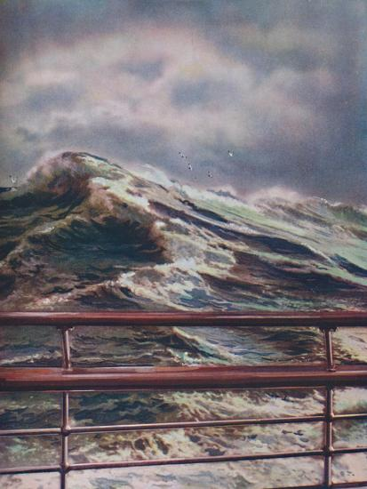 'Stormy Seas of the Atlantic Ocean from modern liner', 1936-Unknown-Giclee Print