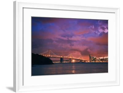 Stormy Skies at Sunset, San Francisco--Framed Photographic Print