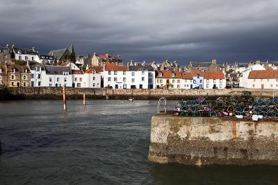 Stormy Skies over St. Monans Harbour, Fife, Scotland, United Kingdom, Europe-Mark Sunderland-Photographic Print