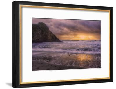Stormy Sun Break at Big Sur, California Coast-Vincent James-Framed Photographic Print