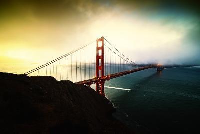 Stormy Sunday, Golden Gate Bridge, San Francisco-Vincent James-Photographic Print