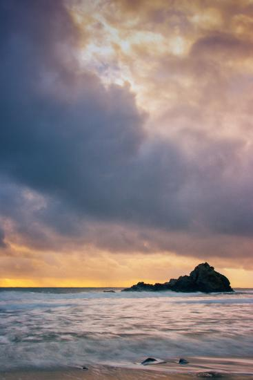 Stormy Sunset Skies at Big Sur, Pfieffer Beach, California Coast-Vincent James-Photographic Print