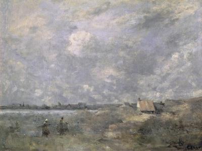 Stormy Weather, Pas de Calais, c.1870-Jean-Baptiste-Camille Corot-Giclee Print