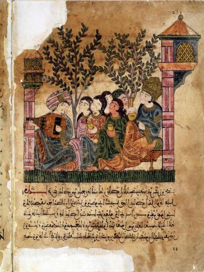 Story of Bayad and Riyad, 13-15th C. Iberian Islamic Miniature with Arabic Text--Art Print