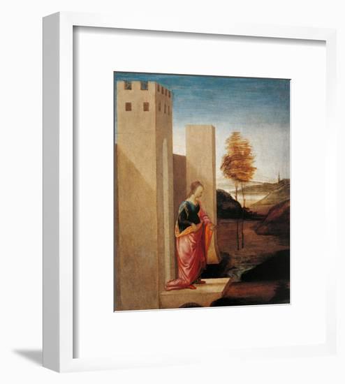 Story of Esther. Queen Vasthi Leaving the Ream-Filippino Lippi-Framed Art Print