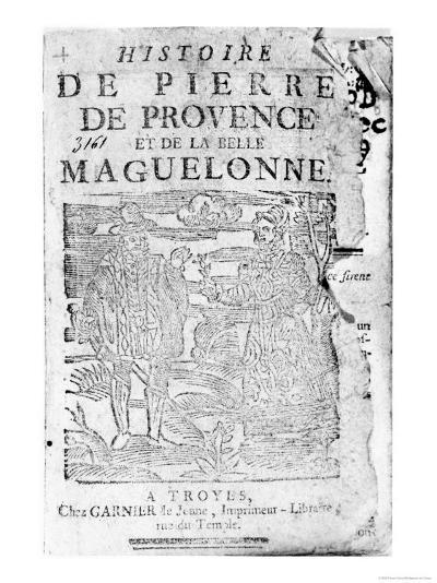 Story of Pierre De Provence and the Belle Maguelonne, Bibliotheque Bleue, Troyes, 1738--Giclee Print
