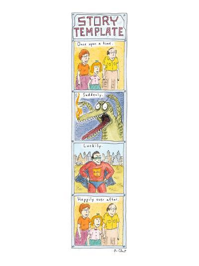 Story Template - New Yorker Cartoon-Roz Chast-Premium Giclee Print