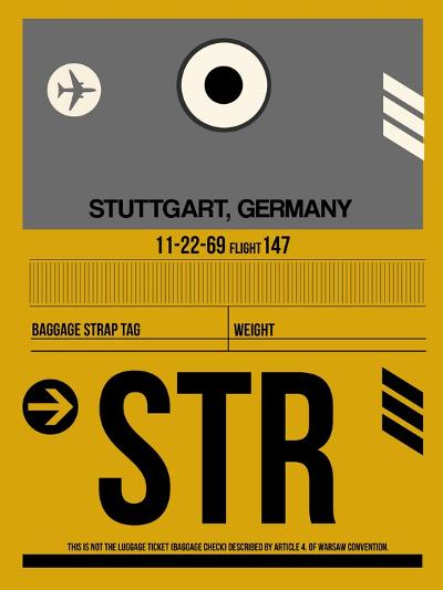 STR Stuttgart Luggage Tag I-NaxArt-Art Print