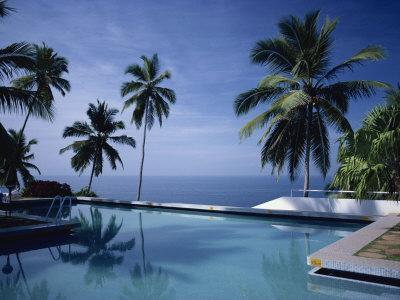 Hotel Swimming Pool, Kovalam, Kerala State, India