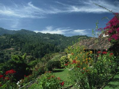 Landscape of Hills at Chichicastenango in Guatemala, Central America