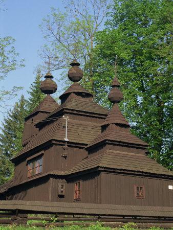 Old Wooden Orthodox Church at Ladomirova, Slovakia, Europe