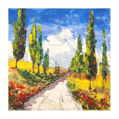 Strada toscana-Luigi Florio-Giclee Print